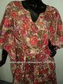 caftanes túnicas blusas desgaste étnic 100% tejidos estampados de algodón utilizados