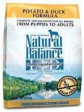 Equilibrio natural seco alimento para perros, libre del grano limitada ingrediente de la dieta de pato y la fórmula de papa,