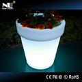 2014 pe éclairage led s'allume pot de fleur/décoration fleur pot de jardin/pot led/led. vase pot en plastique