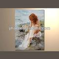decorativo moderno pintado a mano foto chica desnuda pintura al óleo sobre lienzo