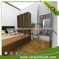 Construcción de acero ligero Verde Casas prefabricadas casa de madera