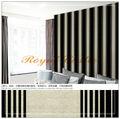 clásico diseño de la tira de color negro y blanco de vinly en relieve profundo estilo de bordado de la pared de papel hecho