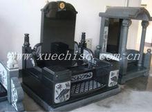 estilo chino lápida del cementerio de shanxi lápida de granito negro