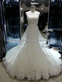 nuevo modelo 2014 de alta calidad de la muestra real lujoso encaje playa vestido de novia vestidos de de novia de f464