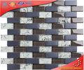 HSD86 tiras de mosaico de vidrio de patrón de la flor de la cocina azulejos de la pared para dcoration