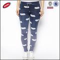 diseño de moda flaco en todo bate de impresión niñas ajustados pantalones de deporte