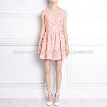 estilo europeo vestido de encaje sin espalda 2014