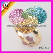 2014 nuevo diseño de moda LADIES anillo de dedo, color de alta calidad Rhinestone mujeres al por mayor ANILLO