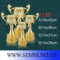 oro chapado trofeo personalizado con el logo grabado