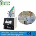 automatizado de análisis de sangre del tubo de etiquetado de etiquetado y el número de llamadas del sistema