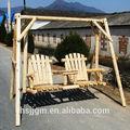 de madera al aire libre jardín doble silla del oscilación