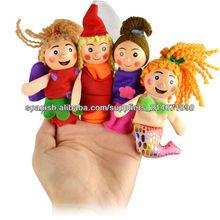 Nueva 4PCS/Set de Sirenita Navidad marioneta animal del dedo del juguete Juguetes educativos Storytelling Doll 6909#