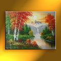 escena de montaña de pintura al óleo sobre lienzo para el dormitorio moderno arte de la pared de imagen