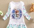 Hermoso traje de elsa, bebé vestido de imágenes, bebé vestido nuevo estilo