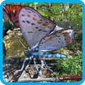 Parque temático al aire libre mariposas animadas con movimiento