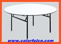 Mesa redonda plegable/plegable mesa de comedor ct-8006