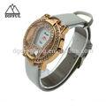 Nuevo producto 2014 baratos reloj de cu! De acero inoxidable de nuevo reloj reloj de cuero para los hombres proveedor de china