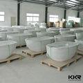 De la promoción!!! Kkr diseño mordern superficie sólida bañera independiente, pequeña independiente bañera para la venta