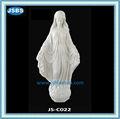 blanco virgen maría estatua de mármol para la decoración del jardín