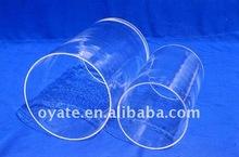 clara y transparente de cuarzo tubo de cristal