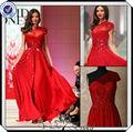 p0270 cuentas un hombro de largo de gasa de color rojo elie saab vestido de noche 2014