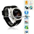Ultrafino 1.6 pulgadas HD LCD de pantalla táctil desbloqueado wrist watch phone android con MP3 MP4