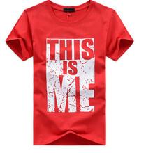 2014 de moda de verano los hombres camiseta de algodón