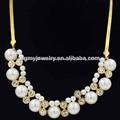 hermoso collar de oro con cristal de la moda collar de perlas de la imagen