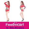 venta al por mayor 2014 el deporte niña disfraces sexy rojo uniformes de porristas