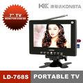 7 pulgadas smart tv portátil TV ISDB de noticias deportivas y TV al aire libre con pantalla de 7 pulgadas Modelo: 768S