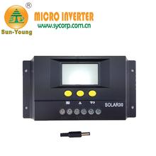 Lcd mostrar mppt solar regulador de carga 24v/12v 48v