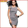 mujeres mini vestidos de algodón gris sexy