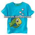 2014 nuevo diseño al por mayor de impresión de dibujos animados de bebé de algodón camisetas para niños