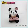 Panda de peluche juguetes con falda, super suave tela juguetes animales chica oso panda