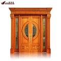 portas de madeira entrada da porta de carvalho vermelho madeira porta de vidro decorativo