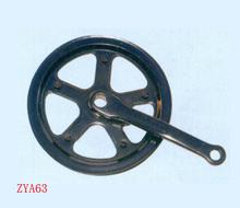 Noir vélos chainwheel et manivelle/bonne qualité d'une seule pièce manivelleprix/d'argent manivelle
