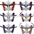 de colores de la mariposa parte mardi gras máscara