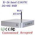 Mini Windows Linux Embedded PC Windows o Linux con 29MM extrema chasis ultra delgado Intel Celeron de doble núcleo 2g 8g C1037U