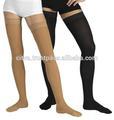 deluxe medias de compresión de alta del muslo de la rodilla las venas varicosas de apoyo calcetín