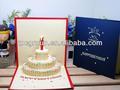venta al por mayor hecho a mano 3d de cumpleaños tarjetas de felicitación