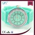 Nueva bisel de diamantes de cristal de estilo bajo precio ginebra relojes reloj del movt de Japón para las niñas