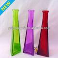 triángulo colorido jarrón de vidrio yf0269