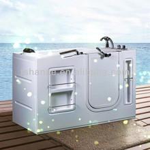 Hs-b1301t venta caliente caminar en la tina/rectangular bañera caliente/tinas de baño y duchas
