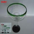 Inventario soplado verde margarita vidrio