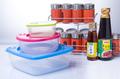 cuadrados de plástico plegable del horno de microondas y seguro de alimentos contenedores de almacenamiento