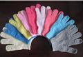 La moda de china de poliéster/de nylon guante exfoliante baño
