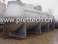 horizontal del tanque de presión