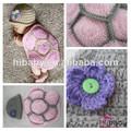 crochet da mão rosa pequena tartaruga bebê chuveiro dom chapéu de lã e de quadril fornece por atacado