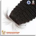 brasil cabello humano virgen profunda ola de encaje de cierre