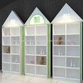 libre de pie estantes de madera para los niños
